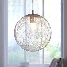 WOFI lámpara colgante Verre 1 Luz Cromo Vidrio Bola Ø 30cm E27 60 vatios