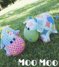 Moo Moo - Sewing Craft PATTERN - Soft Toy Felt Doll Cow Animal Softie