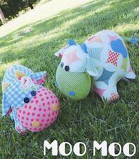Moo Moo-Cucito Craft pattern-giocattolo morbido bambola Di Feltro Mucca Animale Softie