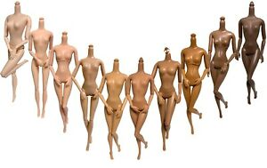 DIY OOAK 10Pc Replacement Barbie Fashionistas 1/6 Doll Body LOT Jointed Posable