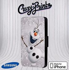 Olaf The Snowman Frozen fits iPhone / Samsung Leather Flip Case Cover V13