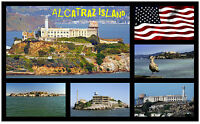 Alcatraz île - Souvenir Nouveauté Aimant de réfrigérateur - NEUF - Cadeau / Noël
