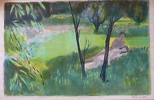 Roger FORISSIER (1924-2003) Lithographie signée Jeune Peinture Ne Ecole de Paris