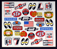 Vintage Logo Detail Decals for RC Cars, Late Models, Stock Cars, Dirt Oval