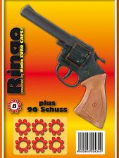 96 Amorces + Pistole RINGO für KINDER von SOHNI-WICKE 8er Agenten - Cowboys -
