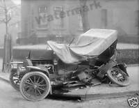 Photograph Vintage Car Wreck / Accident Washington DC Year 1917  8x10