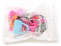 Barbie Doll Accessories Lot Of 40 Jewelry Necklace Earrings Comb Shoes Bag Crown