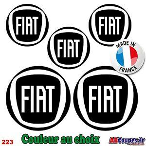 5 Adesivi Logo Fiat - 500 X L Ducato Stilo Tipo Punto - 223