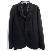 Puma Mens Hussein Chalayan Black Blazer Zippered Pockets Rare Size XL