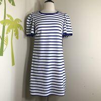 NWT Heyton Blue Striped Dress Sz 2