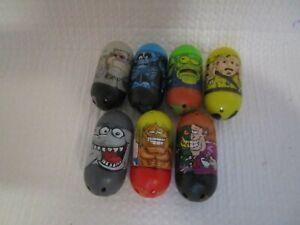 2010 Mighty Beanz Lot of 7 X-Ray, Frankenstein, General, Surf, Shark, Crash Test