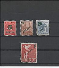 ALLEMAGNE.BERLIN 1949 TIMBRES NEUF.SURCHARGE VERTE .SIGNE BPP SCHLEGEL N°47 a 50
