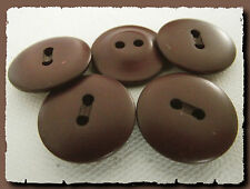 5 BOUTONS Rouge bordeaux acajou * 21 mm 2,1 cm  2 trous  Button sewing