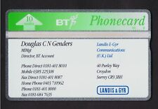 BT L&G Visiting card LGV023 10 units L&G Business Card Douglas C N Genders