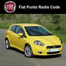Fiat punto radio estéreo de coche Decodificar Desbloqueo Código Servicio Rápido Reino Unido todos los vehículos