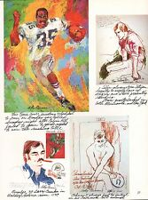 LEROY NEIMAN BOOK PRINT FOOTBALL SKETCHES HILL TARKINGTON CSONKA UNITAS