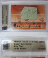 2010 Famous Fabrics Andy Blair 1/1 cut auto 1 of 1 autograph toronto chicago RIP