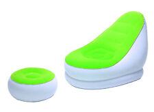 Bestway Luftsessel Comfort Cruiser mit Hocker weiß/grün, Camping, Pool