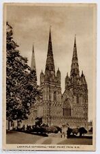 Lichfield, Staffordshire  Through the Camera Postcard - Cathedral West Front