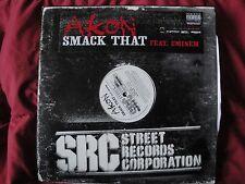 "AKON ""SMACK THAT"" FEAT. EMINEM 2006 UNIVERSAL RECORDS B0007877-11 EX 12"" SINGLE"