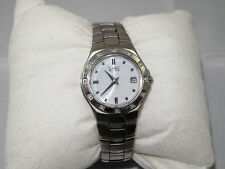 Vintage CITIZEN Eco Drive S Steel Diamonds Women Watch E011 S033705 HST Working