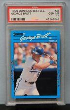 1990 DONRUSS BEST A. L. # 35 George Brett PSA 10 GEM MT # 45143049  ROYALS !!!