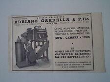 advertising Pubblicità 1947 SOCIETA' ADRIANO GARDELLA - GENOVA