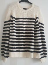 M&S Collection size 24 Beautiful Thick Navy Mix 100% Cotton Jumper BNWT