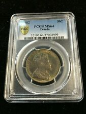 1902  PCGS Graded Canadian,  ¢50 Cent, **MS-64**