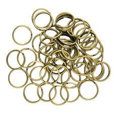 50pcs 18mm Split Hoop Key Rings Key Chain O Rings Antique Bronze DIY