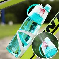 Bike Water Bottle Mtb Bycicle Sports Drinking Spray Kettle W Lid Cycling Outdoor