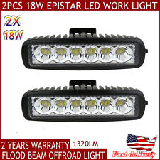 2pcs 6INCH 18W CREE LED WORK LIGHT BAR DRIVING SPOT BEAM SUV ATV UTE JEEP T