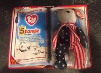 2000 McDonalds ty International Bears II Spangle the Bear Beanie Babies toy new