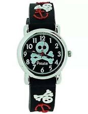 Childs Boys Skull And Crossbones  Pirate Watch With 3D Style Plastic Strap  (42)
