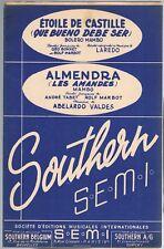 ÉTOILE de CASTILLE de LAREDO & ALMENDRA de VALDES Bolero Mambo Éd. SOUTHERN 1949