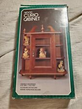 "Vintage Wood Glass Door Table Top/Wall Hanging Display Curio Cabinet 15"" NIB NEW"