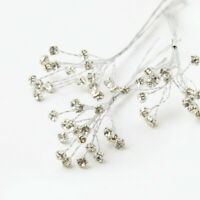 Silver Diamante Spray Wedding Floristry Corsages Bouquets Decorative Additions