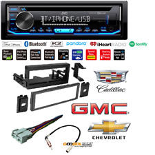 JVC 1-Din Car Stereo w/Bluetooth Dash Kit Wire Harness Cadillac Cheverolet GMC