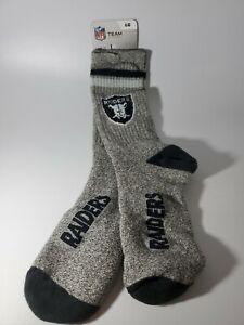 NFL Oakland / Las Vegas Raiders Team Logo Men Crew Socks Large 10-13