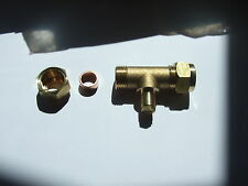 Gas test point 8mm Tee for LPG or natural Gas.