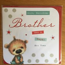 Brother Bear Christmas New Year Greeting Card NEW (C181)