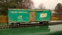 HO 40' Boxcar Penn Central  #77047 - CUSTOM - WEATHERED! Athearn