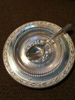 Stanley Jelly Dish No 28 - Vintage Silver Plate with Spoon