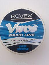 ROVEX VIROS BRAID LINE - 1Olb (4.5kg) - 150yd (135m) -FREE UK P & P-SEA FISHING