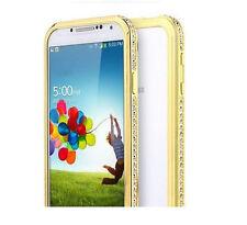 For Galaxy S5 S4 S3 Luxury Crystal Rhinestone Diamond Bling Metal Cover Bumper