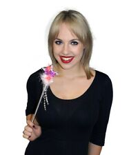 BRIDE TO BE Flashing Wand Hen Party Night Pink with feather /faux fur trim