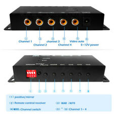 Auto 4-Way Video Switch Camera 4 View Image Split-Screen Combiner Box Spiffy