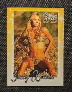 2003 Fleer WWE Divine Divas Stacy Keibler #31 Yellow Card Bikini Sexy RARE