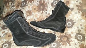 WOMENS TODS BLACK SUEDE BOOTS, VGC, 37, UK 4, LOVELY QUALITY BOOTS, SUPERB!