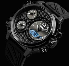 XXL SKM analógico digital pulsera caballero reloj negro blanco chronograph 5 tiempos